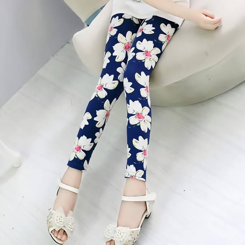 VIDMID Girls Skinny Leggings Candy Color Lace pants Leggins for Baby Girl Kids Children cotton Princess trousers pants 4114 07 1