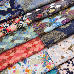 Sushi Japanese Bronzed Fabric By Cm Printed Cotton Cloth DIY Materials