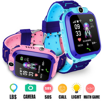 Kid Multi Function LBS Call Smart Watch With Camera Flashlight IP67 Waterproof Smartwatch Children Gift For IOS Android