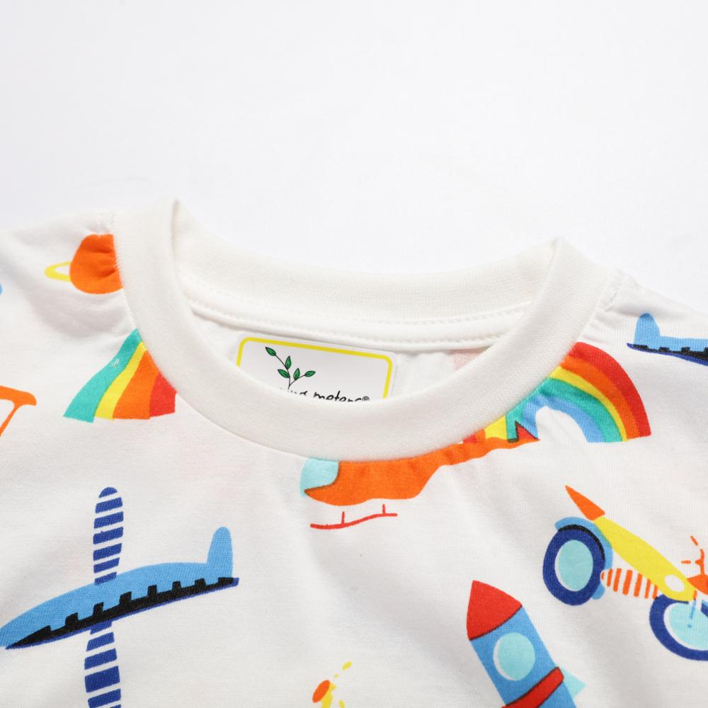 Jumping meters New 2020 Cartoon Boys Girls Tees for Summer 100% Cotton Baby Clothing Short Sleeve T shirts Cute Rockets Print 3