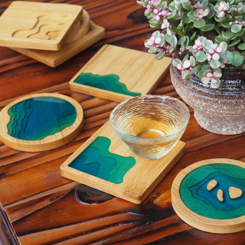 Plato de madera, molde de placa, molde de resina epoxi, artesanías ...
