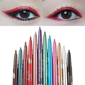 12pcs/set Shimmer Liquid Eyeliner Pencil Eye Makeup Shadow Pen Automatic Telescopic Rotary Lying Silkworm Color Eye Liner