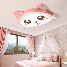 цена на Verllas Modern led ceiling light cat pink Cartoom lights for children room bedroom lighting kids baby girls home ceiling lamp