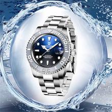 Часы наручные pagani Мужские механические брендовые водонепроницаемые