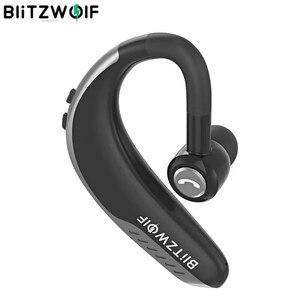 Image 1 - BlitzWolf Dynamische Stereo IPX5 bluetooth 5,0 Drahtlose Kopfhörer Licht Einzelnen Business Sport Headset Freisprecheinrichtung HD Anrufe Ohrbügel