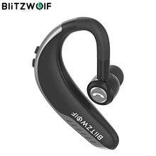 Blitzwolf fone de ouvido wireless ipx5, fone de ouvido wireless com bluetooth 5.0, headset estéreo dinâmico para esportes de negócios, chamadas hd, gancho de orelha
