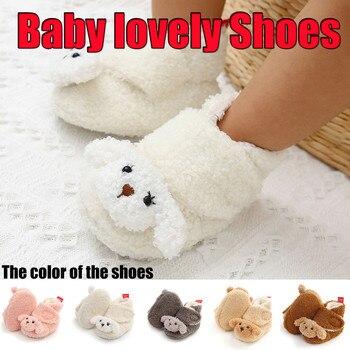 Zapatos De invierno para recién nacidos, calzado cálido De princesa De suela...