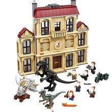 2018 NEW 75930 1046pcs Jurassic World Dinosaur Indoraptor Rampage At Lockwood Estate Building Block Toys For Children 10928 lego jurassic world 75930 нападение индораптора в поместье локвуд