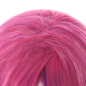Image 5 - L email wig LoL Xayah Cosplay Wigs Star Guardians Cosplay Long Pink Purple Wig with Ears Halloween Heat Resistant Synthetic Hair