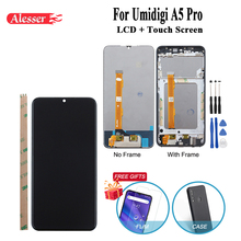 Alesser For UMI Umidigi A5 Pro LCD Display and Touch Screen With Film Repair Parts + Tools For Umidigi A5 Pro Phone With Frame