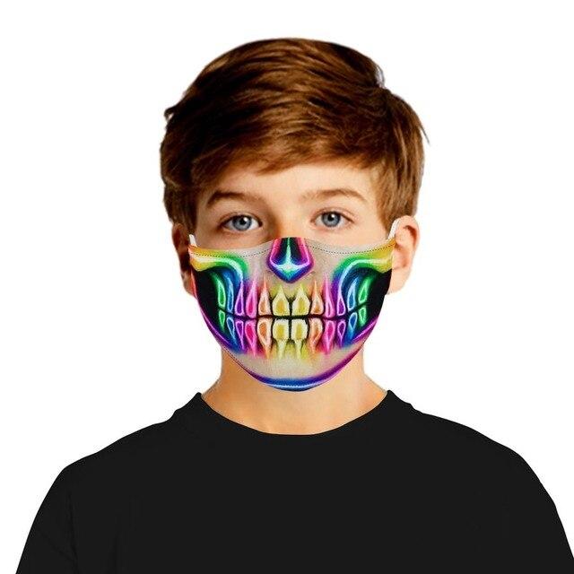 Fashion Hot Sale Adult Children Cartoon Printing Skeleton Joker Protective Mask Filter Chip Dustproof PM2.5 Smog Face Mask Gift 4