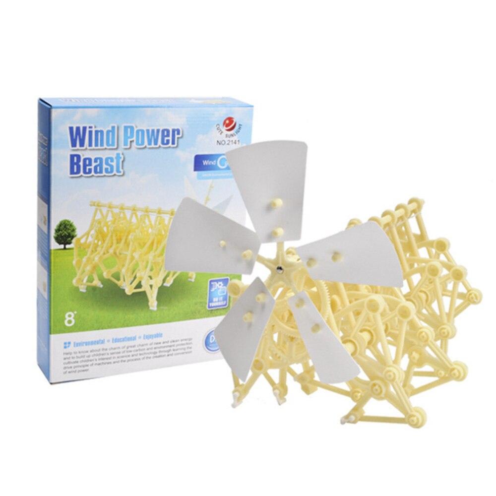 Wind Power Bionic Beast Animal Technology DIY Children Toy Handmade Robot Wind Power Mechanical Beast Assembled Model