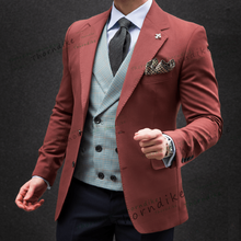 Thorndike Mannen Formele Custom Suits Wedding Tuxedo Casual Mannen Zakelijke Laatste Suits Fashion Diner Prom 2 Stukken Blazer Broek(China)
