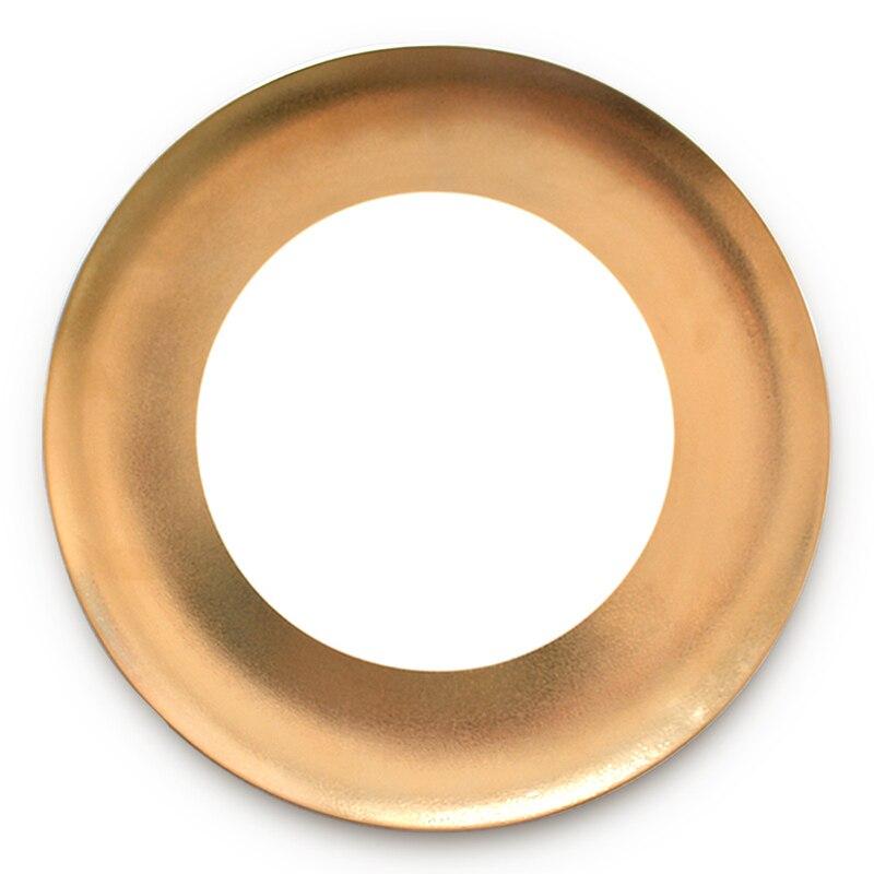 Assiette de Restaurant en porcelaine dorée | Vaisselle à bord en or assiette de Restaurant, assiette de luxe en porcelaine, Restaurant de famille occidentale, plateau de cuisine de mariage - 5