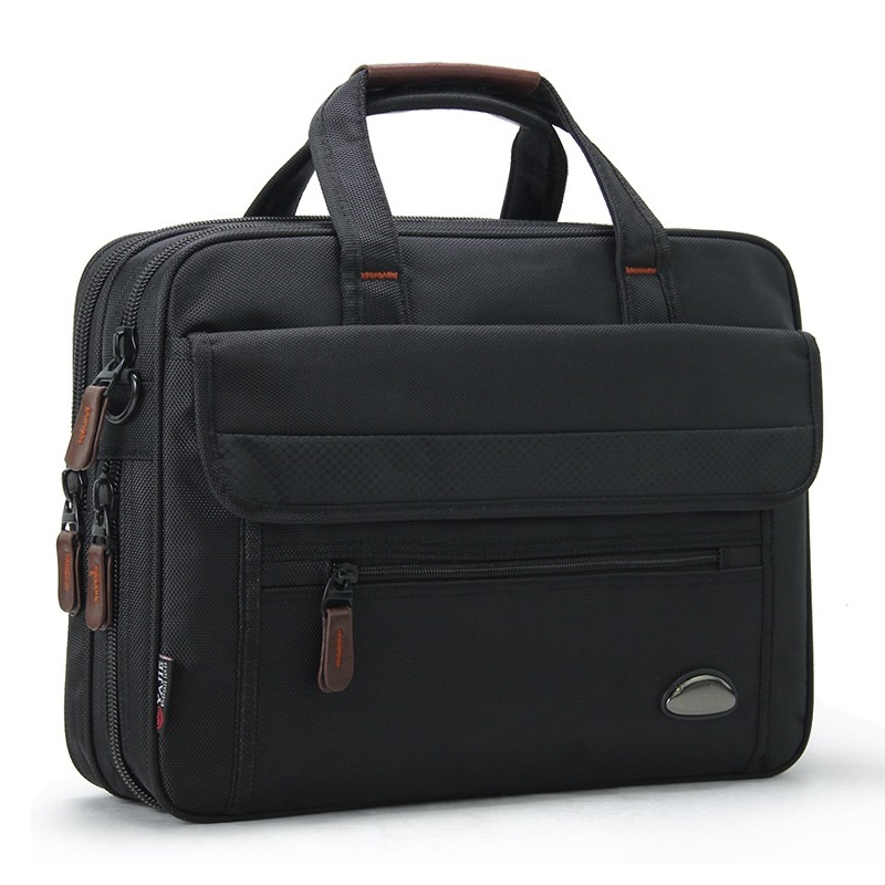 Business Men 15.6 Inch Laptop Briefcase Waterproof Travel Black Computer Bag