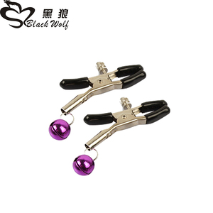 1 Pair Metal Bell Nipple Clamps With Chain Clips Flirting Teasing Sex Flirt Bondage Kit Slave Bdsm Exotic Accessories(China)