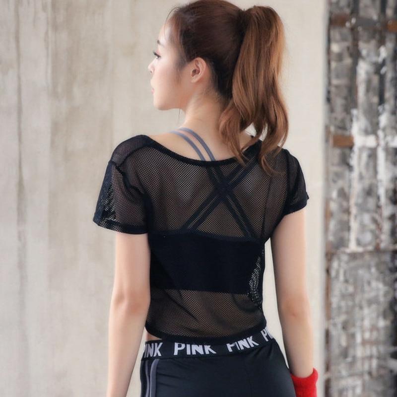 Купить женская спортивная одежда укороченный топ сетчатый женский спортивный