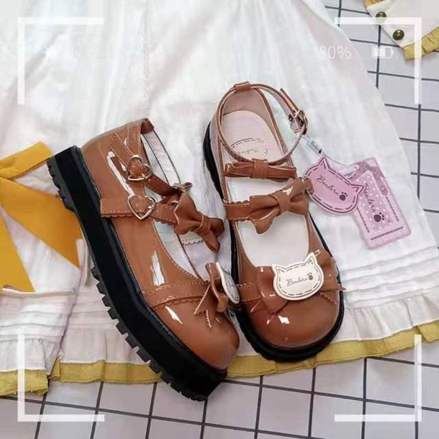 Купить японский из лакированной кожи туфли в стиле лолита винтажном картинки цена