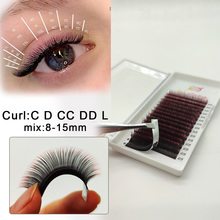 16 rows Ombre color Eyelashes Maquiagem Make up Mink Lashes Rainbow Color mix Eyelash Soft Cilios For Building Eyelash