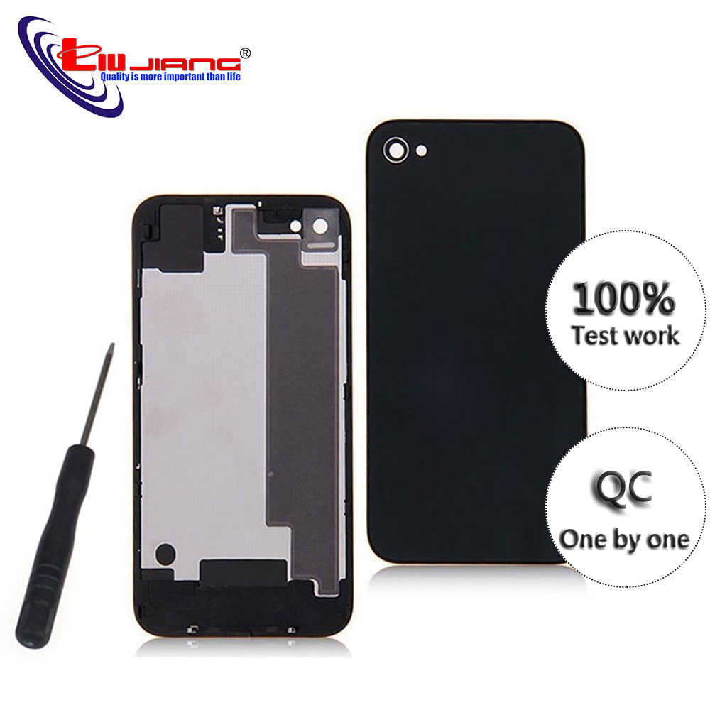New Back Housing Cover For IPhone 4 4s Battery Cover Housing Middle Chassis Body Replacement Repair Parts With IMEI