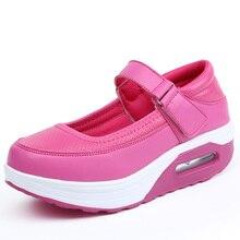 2020 Женские Кожаные Обувь Лето Удобные Воздухопроницаемый Квартиры Для Женщины Мягкий Крючок Мода Женская Высокая Платформа Свободного Покроя