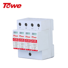 TOWE AP-65B 4P 30kA-65kA SPD Three-phase Low-voltage Arrester House Surge Protective B Level For Distribution Box Protection