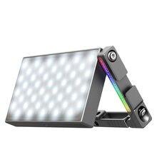 Ulanzi vijim r70 metal rgb led luz de vídeo com suporte ajustável montagem dslr slr câmera luz 2700-8500k 5000mah pd carga rápida