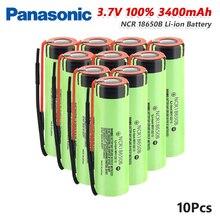 파나소닉 1/2/4/6/8/10x 충전식 NCR18650B 배터리 3.7 V 20A 3400mAh 리튬 이온 NCR 18650B 배터리 Pilas With Wires