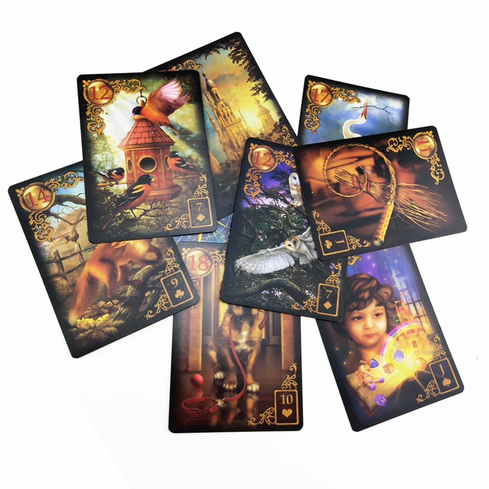 47 Cards Gilded Reverie Lenormand: Expanded Edition Mass Market Paperback With Online Guidebook For Children Audit Games image