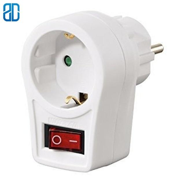 16A ab soket ab avrupa almanya AC güç adaptör fiş duvar soketi anahtarı düğmesi güç çıkışı