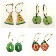 Watermelon Earrings, Fruit Jewelry, Alloy Summer Jewelry Gifts