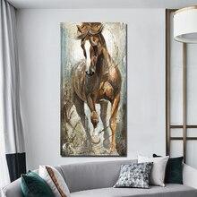 Cuadros de caballo Vintage desinteresadamente Cuadros decorativos pared para sala de estar dormitorio lienzo impresiones carteles arte Retro Animal