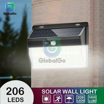 цена на LED Solar Light Outdoor Solar Lamp PIR Motion Sensor Wall Light Waterproof Solar Powered Sunlight for Garden Decoration 1800LM