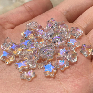 20PC/lot 8mm AB Color Star Beads Czech Glass Loose Spacer Beads for Jewelry Making Hairpin Handmade Diy Accessories