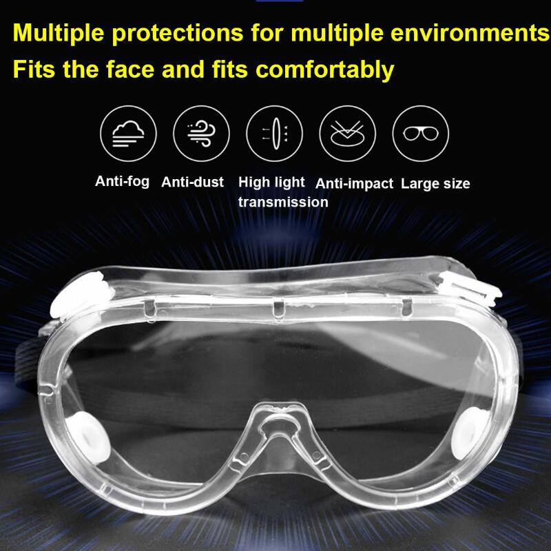 Safety Protective Goggles Medical Glasses Transparent Lens Goggles Prevent Infection Eye Mask Anti-Fog Splash Goggles