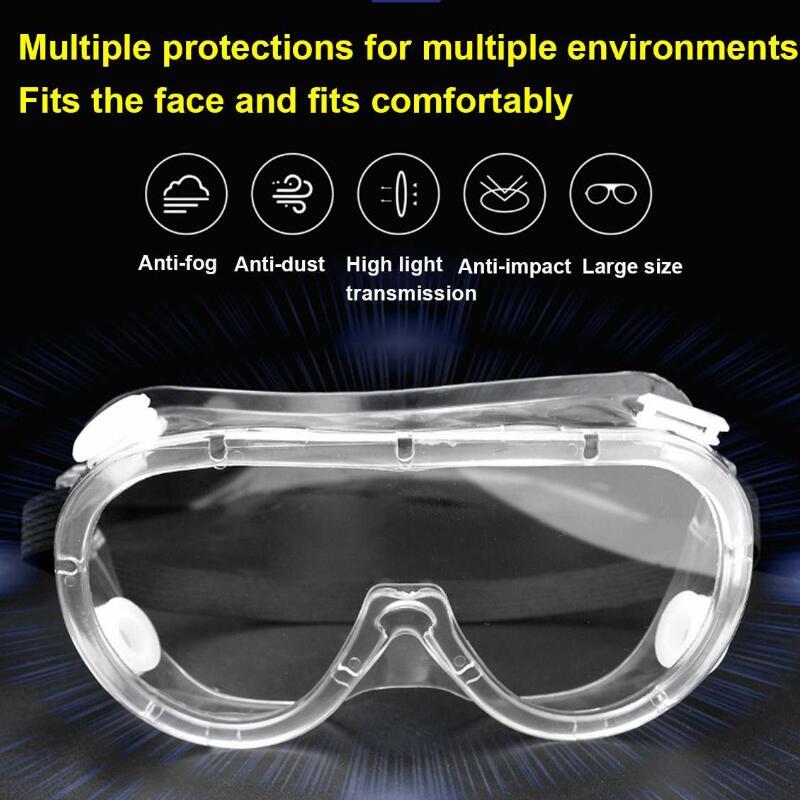 Safety Protective Goggles Medical Glasses Transparent Lens Goggles Prevent Infection Eye Mask Anti-Fog Splash Goggles