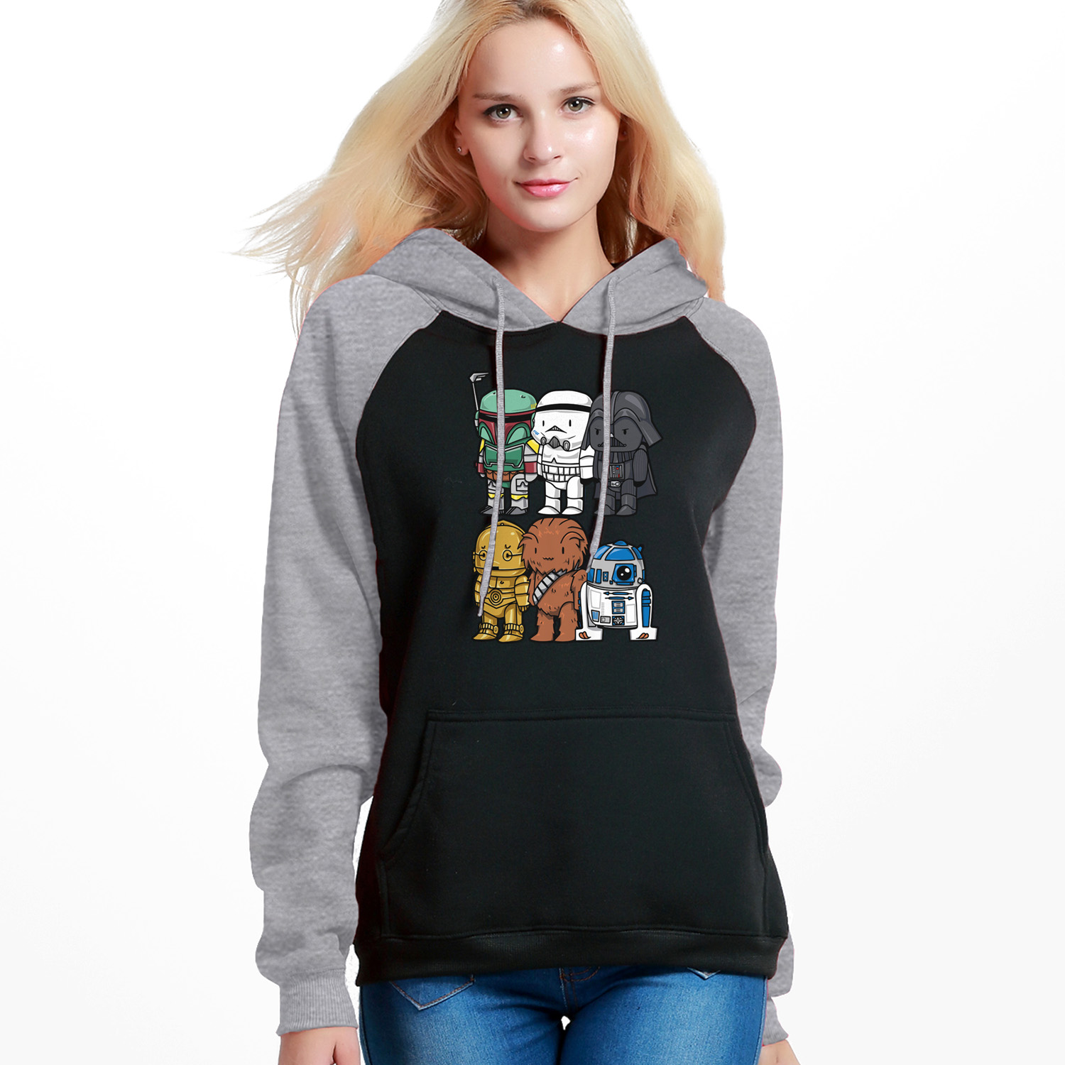 Star Wars Hoodies Sweatshirt Women Yoda Darth Vader Hooded Sweatshirts Hoodies Winter Autumn Fleece Streetwear Starwars Pullover