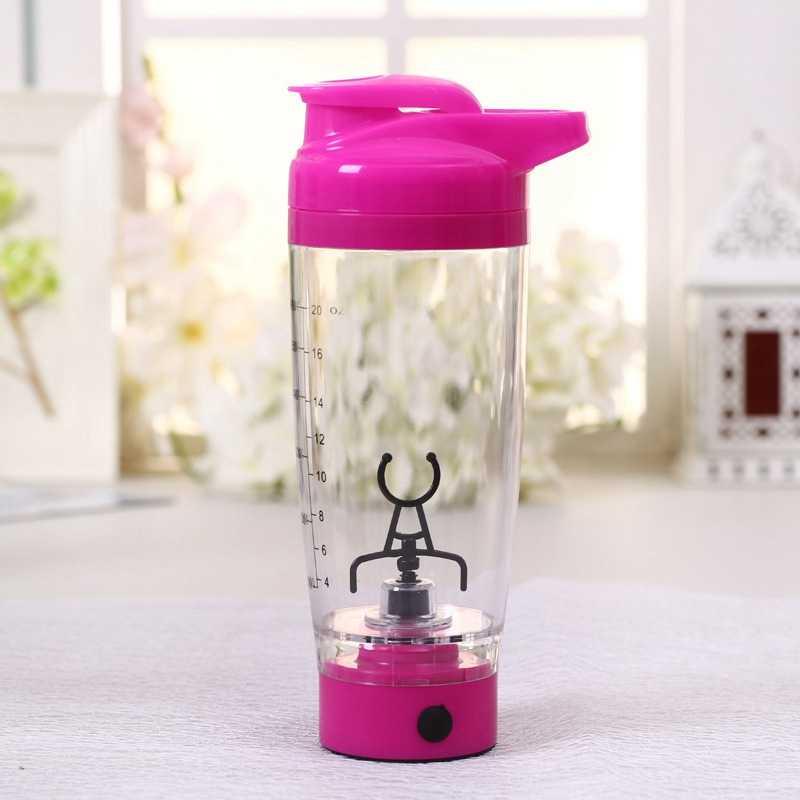 แบบพกพา Vortex ไฟฟ้าโปรตีน Shaker ขวดผสมถ้วยที่ถอดออกได้