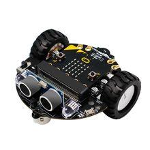 1 conjunto micro: bit programação gráfica robô móvel plataforma inteligente carro v4.0 suporte linha patrulha acessórios de luz ambiente