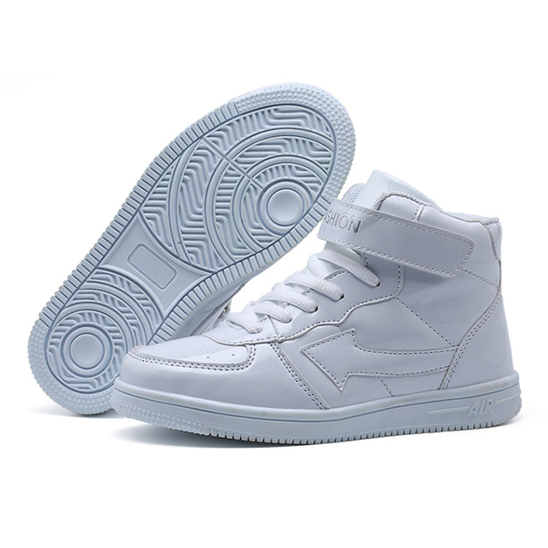 Image 2 - Classic Solid White Children Sport Shoes For Kids Boys Girls High Cut Fashion Non Slip Sneakers Baby Boys Girls Shoes Size 31 38-in Sneakers from Mother & Kids
