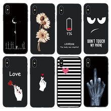 Phone Case For iPhone 8 7 6 6s Fashion Flowers soft TPU Protective Cover For iPhone X iPhone 7 7 Plus Mobile Phone Case Fundas hat prince protective tpu case cover w stand for iphone 6 4 7 white