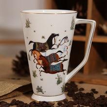 Os chine porcelaine tasses tasses à café tasses mignonnes grande capacité 500ML Drinkware anniversaire cadeau chambre décoration