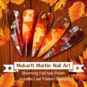 Image 2 - Makartt בצבעי מים דיו פורח לק קסם פריחת פולני מניקור ערכת לעבוד עם שקוף השיש דפוס להיעלם