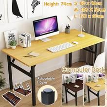 Składane drewniane biurko komputerowe biurko na laptopa przenośne do domowego biura nowoczesny prosty stół do pisania PC biurko stół do nauki meble tanie tanio CN (pochodzenie) room China none 120 x 60cm