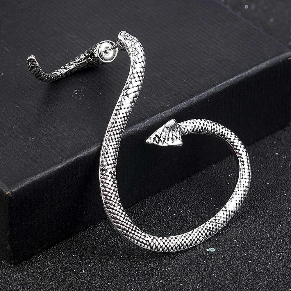1PCS אופנה הדרקון אוזן קליפ סחוס פירסינג Stud סקסי נשים תכשיטי פאנק סגנון Twining נחש צורת עגילי הרבעה
