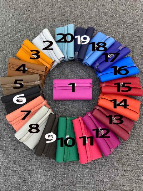 Spedizione gratuita il nuovo stile moda e bella buona qualità molti colori portafoglio lungo da donna in vera pelle di mucca 20 colori 21cm