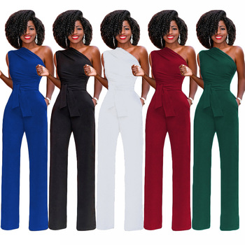 2021 Women Off Shoulder Casual Jumpsuits Wide Leg Pants Summer Elegant Rompers Womens Jumpsuit Party Overalls Female Plus Size xuru women cold shoulder wide leg pants jumpsuits female overalls sexy party jumpsuit women s loose plus size jumpsuits