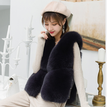ZDFURS * echtpelz fuchs pelz mantel design damen winter wirklich fuchs pelz mantel abnehmbaren echten pelzmantel frauen kurze pelz weste westen