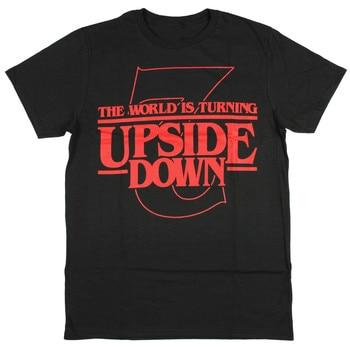 Stranger Things The World Is Turning Upside Down Season 2  T-Shirt Cotton O-Neck Short Sleeve Men's T Shirt New Size S-3XL friends don t lie stranger style pop culture things t shirt2019 new short sleeve men