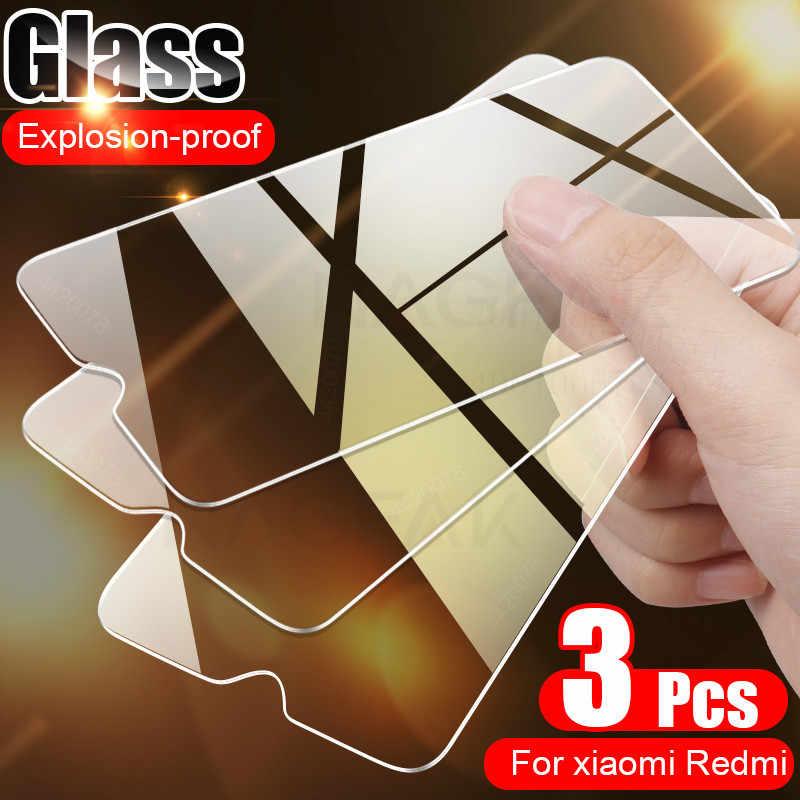 3 قطعة غطاء كامل الزجاج على ل شاومي Redmi نوت 7 8 9 5 برو الزجاج المقسى Redmi نوت 8 برو 8T 7A 8A حامي الشاشة الزجاج